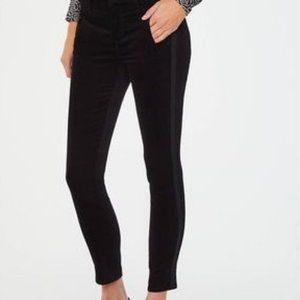 A New Day Black Velvety Slim Ankle Tuxedo Pants 2